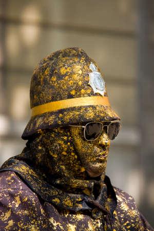 ramblas: Street artist, Ramblas, Barcelona, Spain