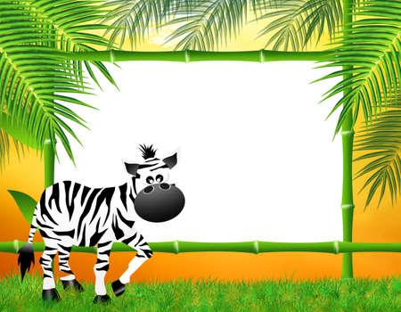 zebras cartoon photo