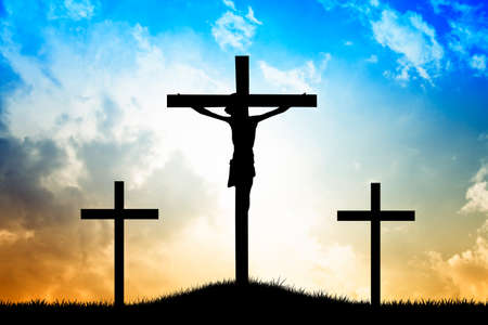 The cross in the light Stock Photo