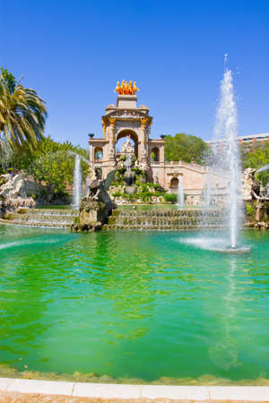 parc: Fountain in the Parc de la Ciutadella, Barcelona, Spain