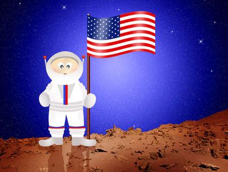 astronaut cartoon photo