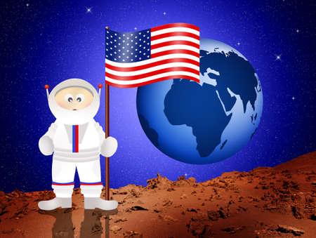Astronaut to Mars photo