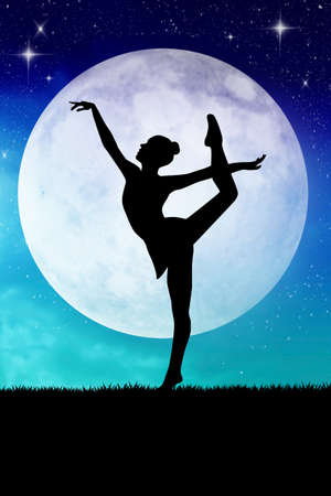 woman dancing in the moonlight photo