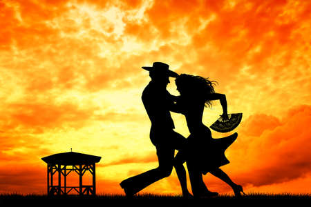 couple dancing flamenco photo