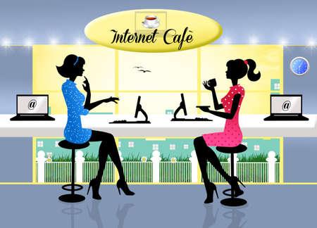 internet cafe: Internet cafe