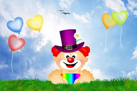 Baby clown photo