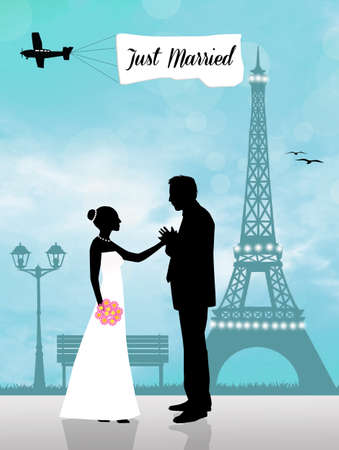 Just Married in Paris photo