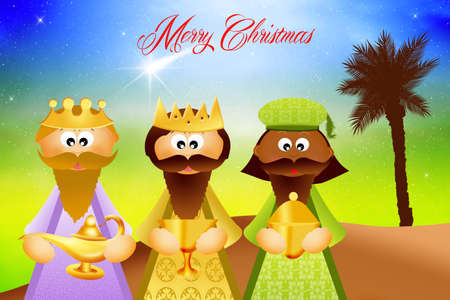 presepe: funny three wise men