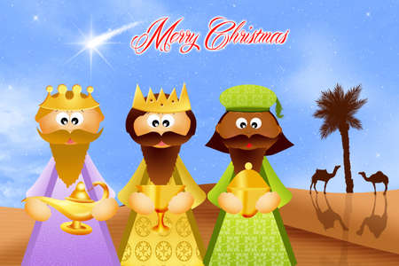 myrrh: Three wise men cartoon