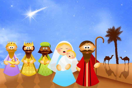 frankincense: Christmas Nativity scene