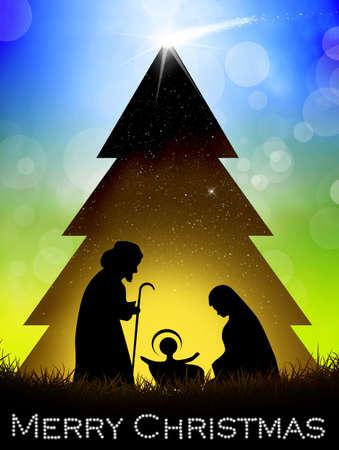presepe: Christmas postcard Stock Photo