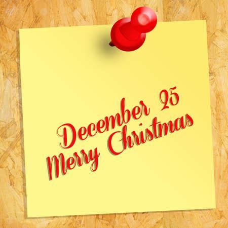december: December 25 Stock Photo