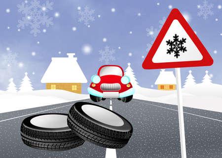 snow tires: snow tires