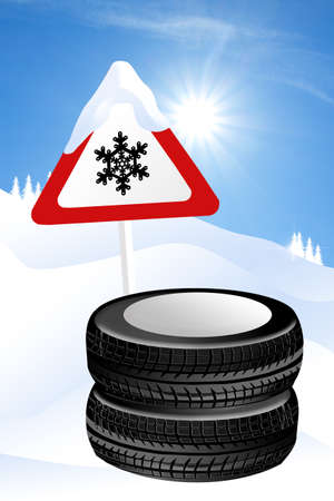 snow chain: snow tires
