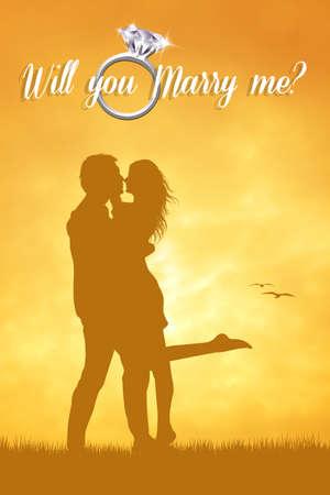 propose: Man propose to woman
