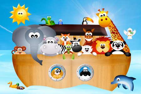 noah:  ark of Noah Stock Photo