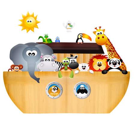 animals on the ark of Noah Stock Photo