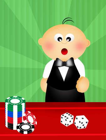 croupier: baby croupier Stock Photo
