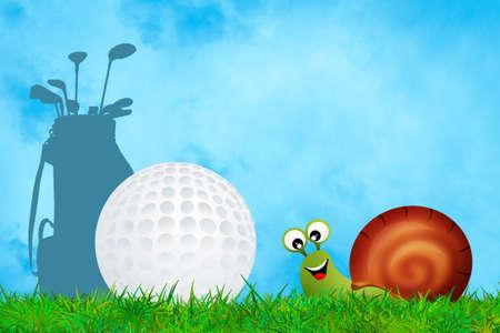 illustration of golf illustration
