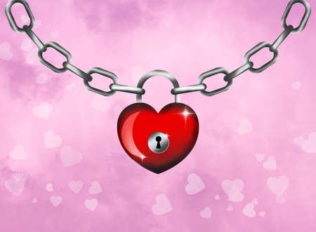 padlock for Valentines photo