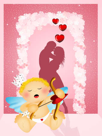 Cupid angel photo