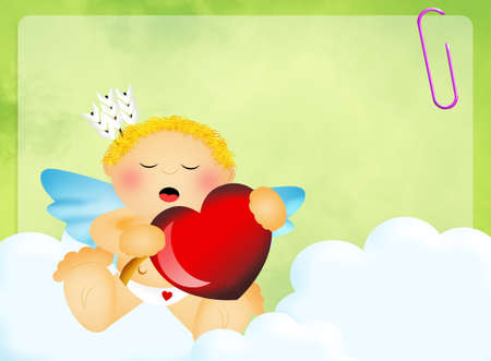 illustration of cute cupid illustration