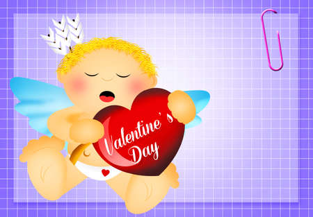 cute cupid for Valentines Day photo