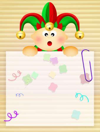 minstrel: baby carnival Stock Photo