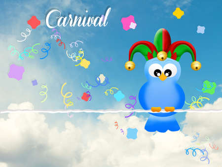 minstrel: Carnival postcard