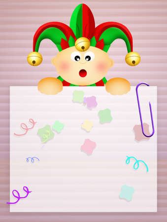 minstrel: illustration of baby jester