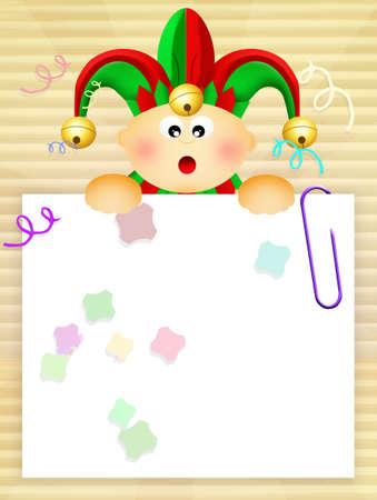 minstrel: baby jester Stock Photo