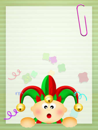 minstrel: illustration of Carnival Stock Photo