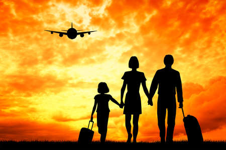 family travelling photo