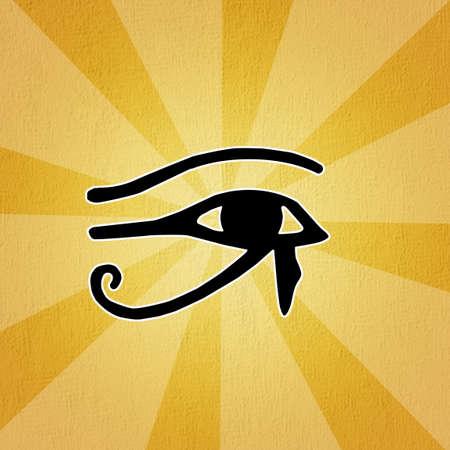 ojo de horus: Horus ojo Foto de archivo