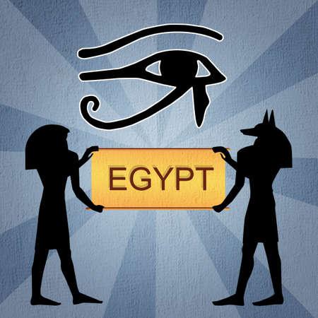ojo de horus: Ojo de Horus egipcio