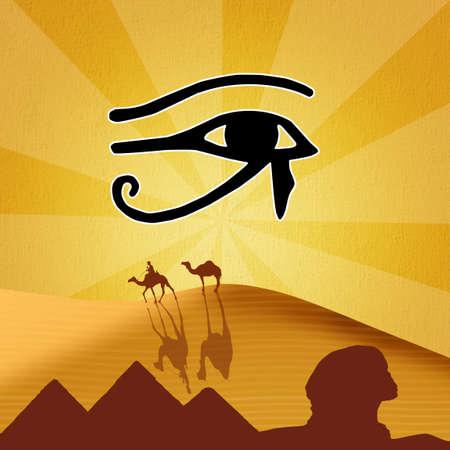 ojo de horus: ilustraci�n de Horus ojo Foto de archivo