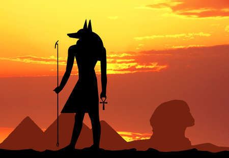 hieroglyphics: hieroglyphics silhouette Stock Photo