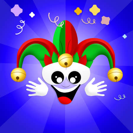 minstrel: Joker cartoon Stock Photo