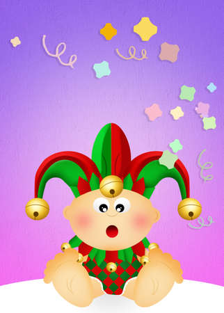 minstrel: Baby joker Stock Photo