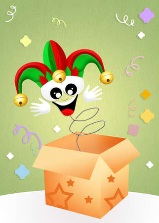 Jester in the box Stock Photo