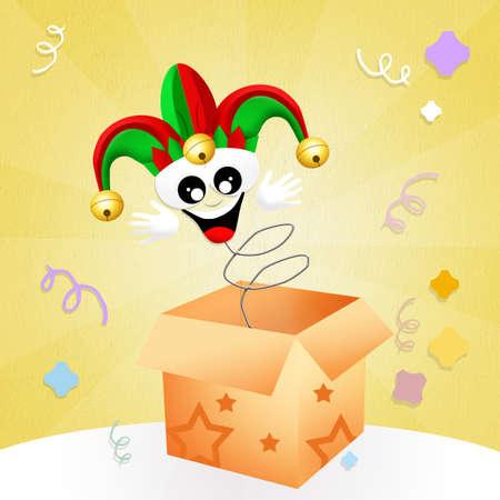 minstrel: Jester in the box Stock Photo