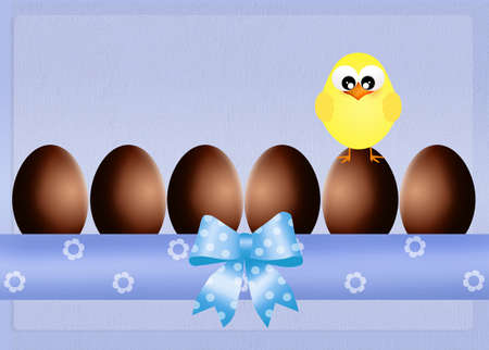 oeufs en chocolat: chiches et oeufs en chocolat
