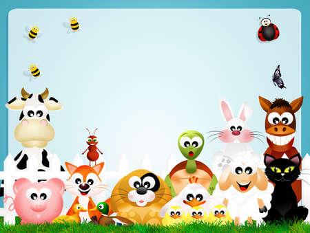 Les animaux de ferme Banque d'images - 25319990