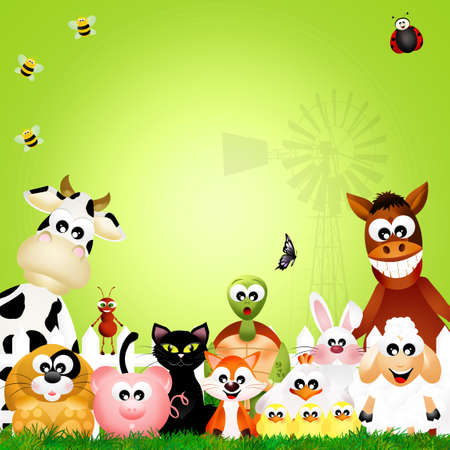 animales de granja: Los animales de granja