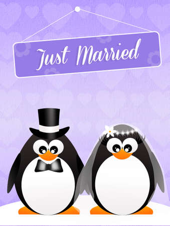 Wedding of penguins photo