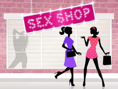 sex shop Banco de Imagens