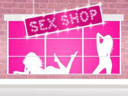 illustration of sex shop illustration