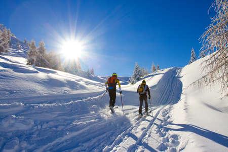 クロスカントリー スキー 写真素材