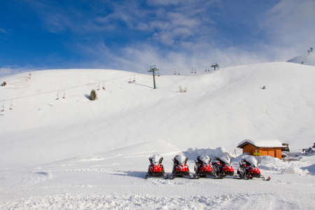 snowmobile rentals Stock Photo - 26254632