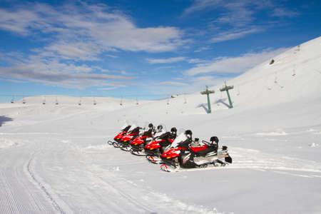 snowmobile rentals, Monte Campione Stock Photo - 26254635